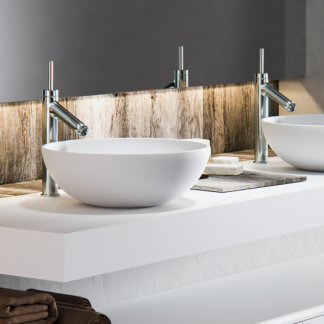 Baths by Clay  Bowl  rondeovale solid surface waskom # Wasbak Corian_232159