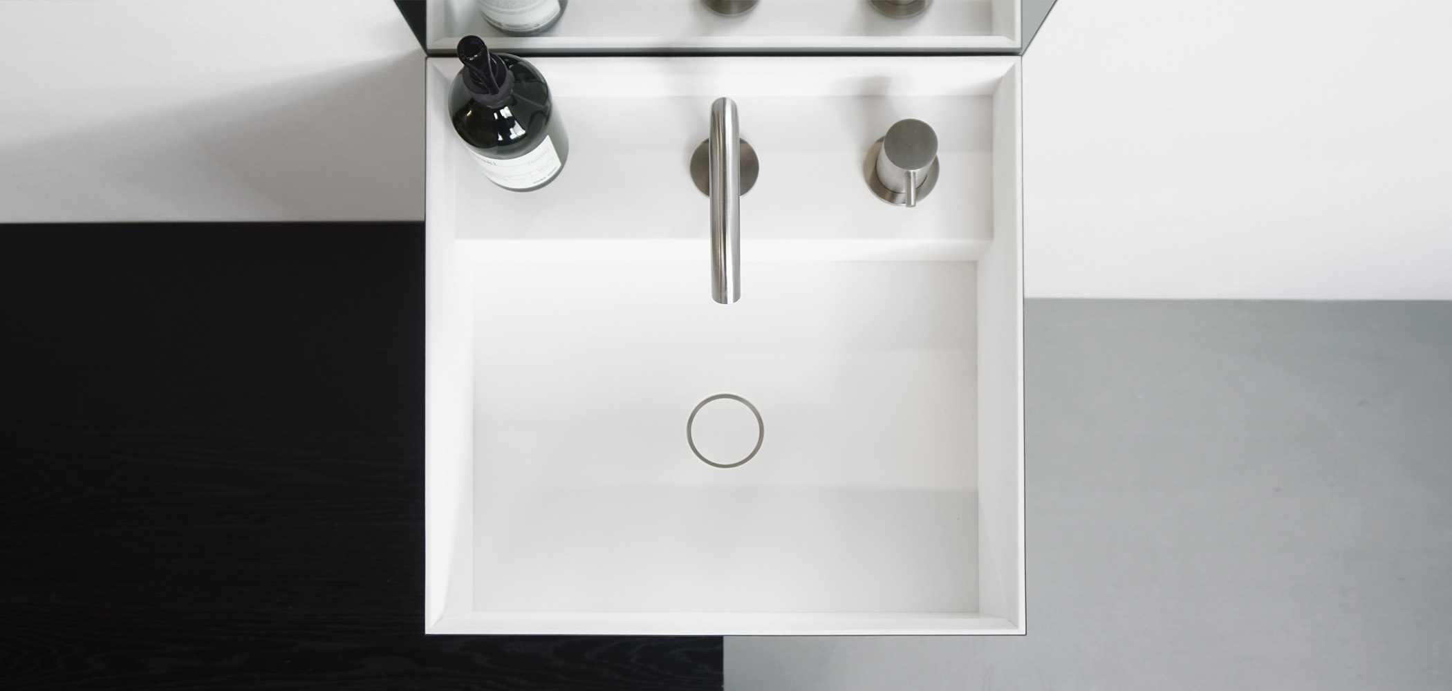 Baths by Clay - Cubic Made to measure Solid Surface washbasin