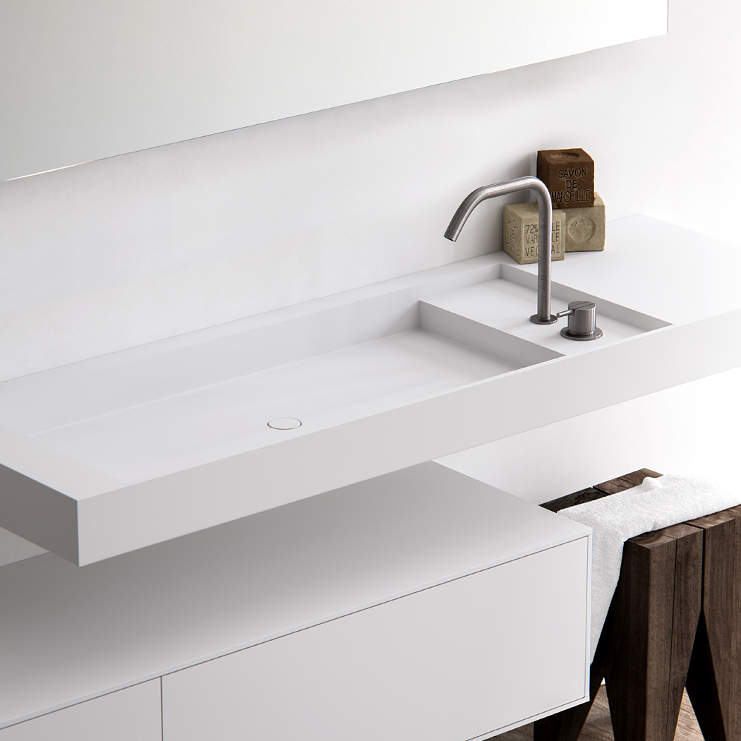 Baths by Clay - Level made to measure Hi-Macs washbasin